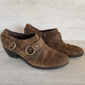 Born Zowy Tobacco Suede Harness Ankle Bootie